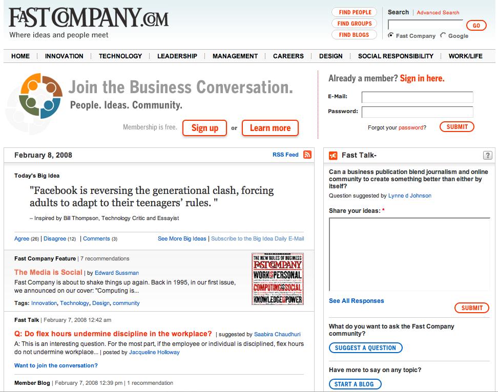 Vorige week kwam groot in het nieuws dat Fastcompany.com haar website had vernieuwd en in het vernieuwde concept sterk inzet op communities. FastCompany is naar eigen zeggen een paats waar […]