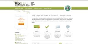 Starbucks werkt aan klantrelaties door klantensuggesties toe te staan